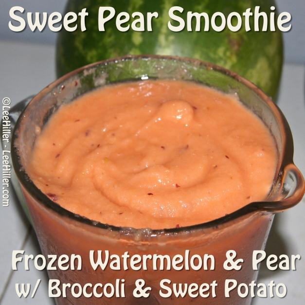 #Raw #Vegan #Smoothie – Watermelon Pear Broccoli and Sweet Potato