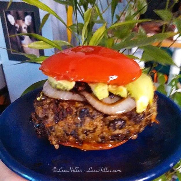 Grilled Tomato #Vegan Burger Bun