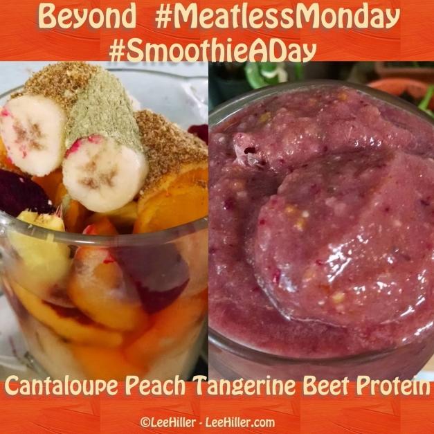 Cantaloupe Peach Tangerine Beet #Vegan Protein #Smoothie