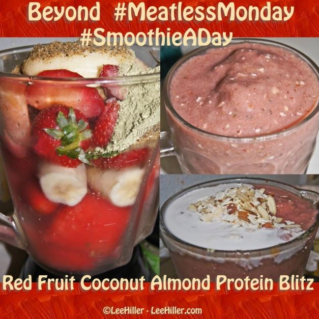 Red Fruit Coconut Almond Protein Blitz #Smoothie