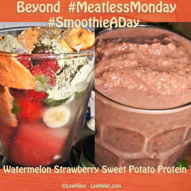 Watermelon Strawberry Sweet Potato #Vegan Protein #Smoothie