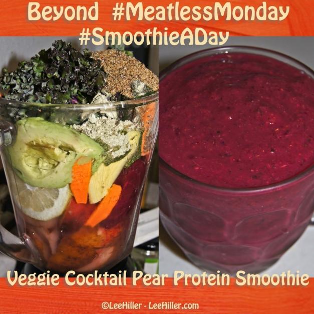Veggie Cocktail Pear Protein #Vegan #Smoothie