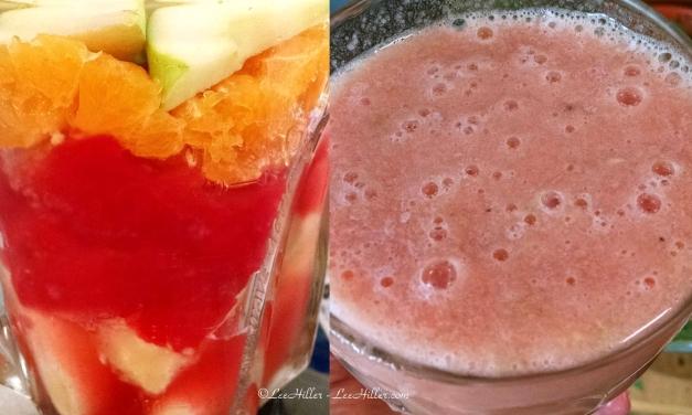 #Raw # Vegan Banana Coconut Orange Watermelon #Smoothie