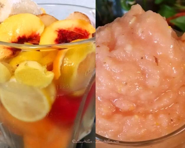 Just Peachy Ginger Citrus Melon #Vegan #Smoothie
