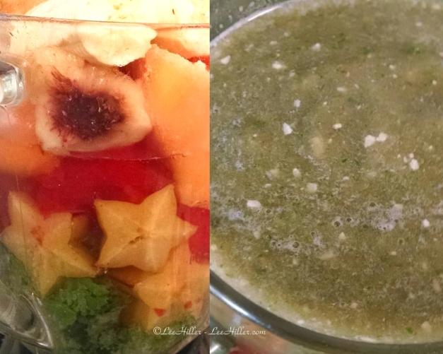 Kale Star Fruit Melon #Vegan #Protein #Smoothie